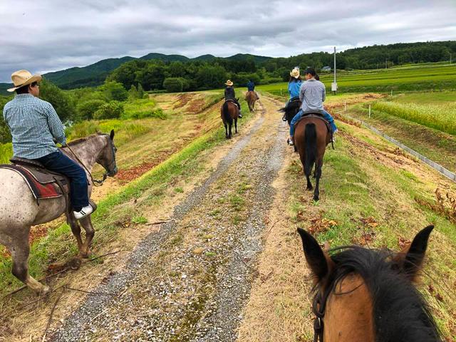 みんなで乗馬体験