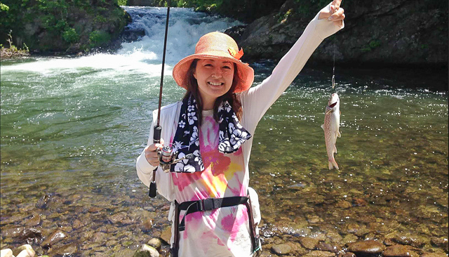 女性も楽しめる釣り